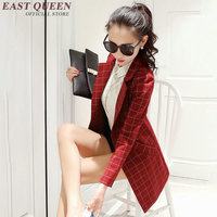 Stylish women blazers office uniform designs women plaid blazer femme new arrival ladies work wear uniforms AA525