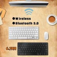 Dünne Mini Bluetooth Drahtlose Tastatur Für Android Tablet iPad für iPhone Smart Telefon für iOS Windows Tragbare Ergonomische Tastatur