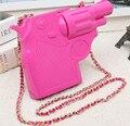 2015 New trend of plastic pistol shape design personalized fashion casual shoulder bag clutch handbags party purse 3 colors