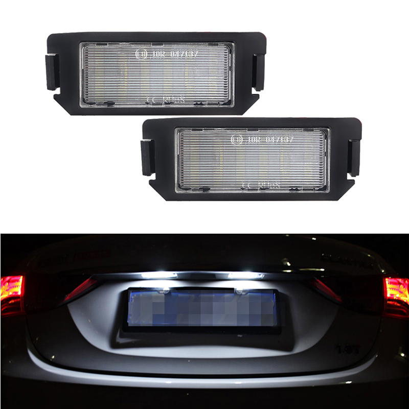 2x Renault Fluence Bright Xenon White LED Number Plate Upgrade Light Bulbs