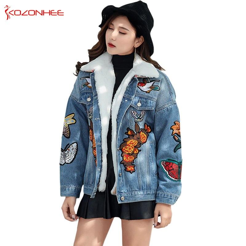 Кашемировая Свободная джинсовая зимняя куртка бойфренда, Женская ветровка, джинсовая куртка для девочек, женские джинсовые куртки и пальто