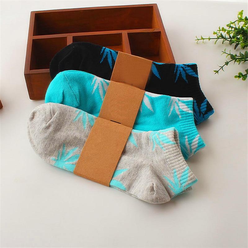 Fashion Summer Cute   Socks   Weed Shape   Socks   High Quality Cotton Short   Socks   Unisex Candy Color   Socks