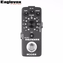 Mooer Micro Drummer Digital Drum Machine Guitar Effect Pedal 121 Drumbeats