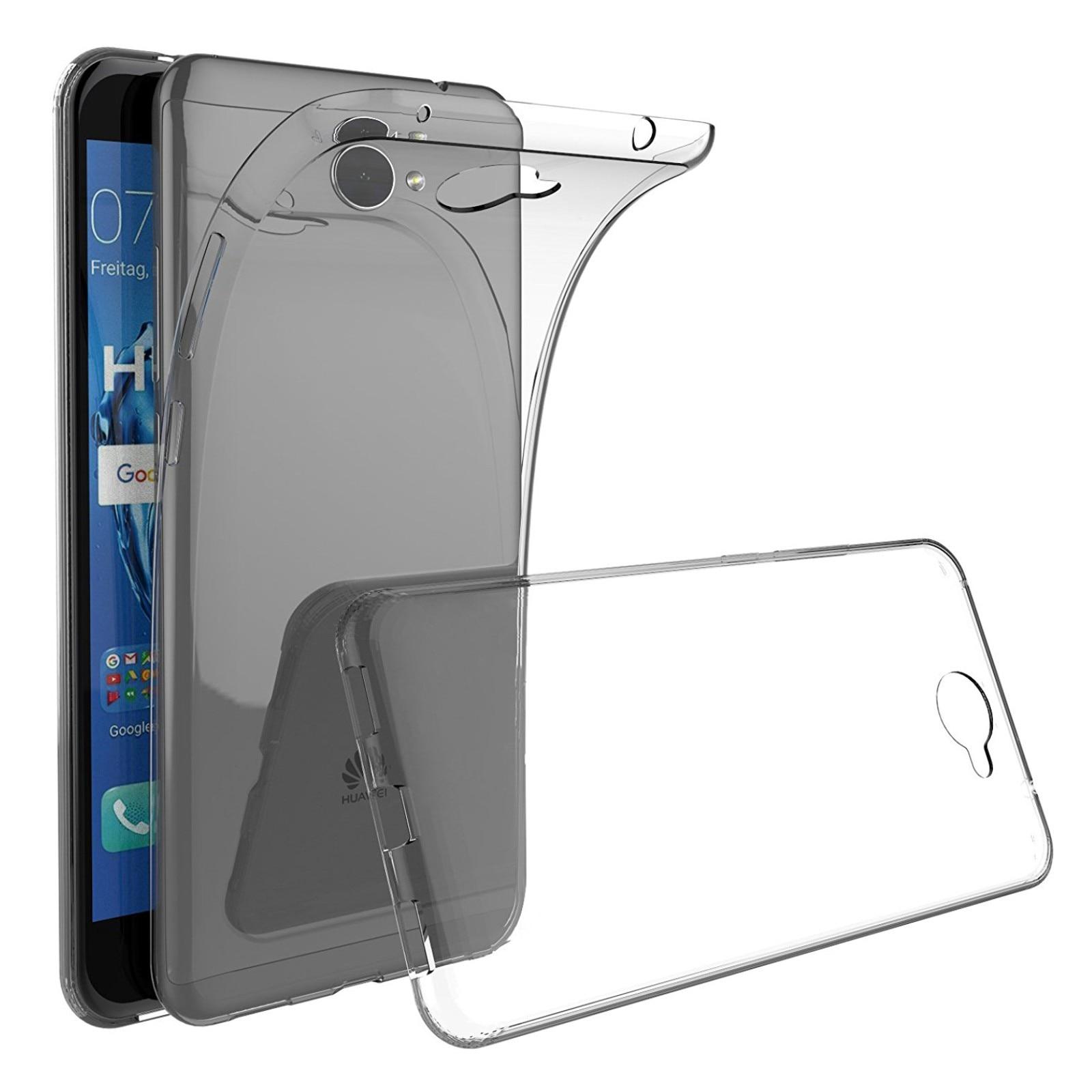 2623d35fc1b Funda de gel TPU carcasa silicona para movil Huawei Y7 2017 TRANSPARENTE