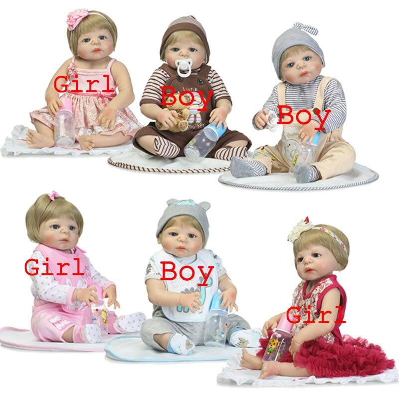 ФОТО Kawaii Gold Hair BeBe Reborn 55cm Full Body Silicone Reborn Dolls 22inch Simulation Lifelike Newborn Brinquedos For Kids Toys