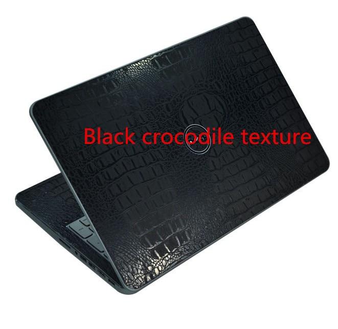 Специальные виниловые наклейки для ноутбука из углеродного волокна для ASUS G75 G75VW G75VX 17,3 дюйма - Цвет: Black Crocodile