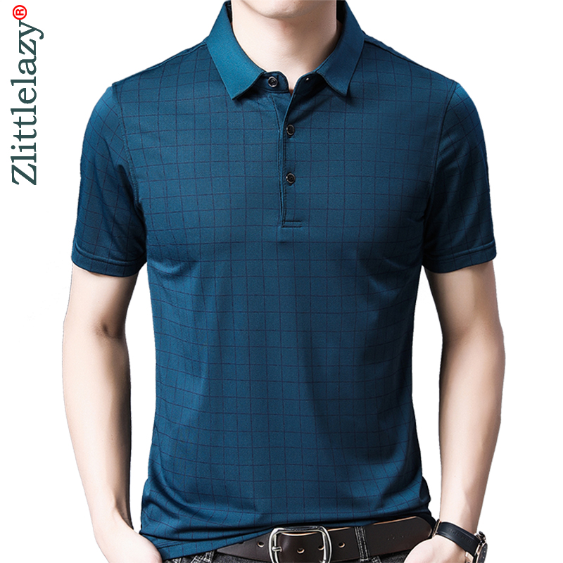 2019 brand casual summer plaid short sleeve   polo   shirt men poloshirt jersey luxury mens   polos   tee shirts dress fashions 50576