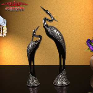 home decoration accessories European crane ornaments resin crafts jewelry wedding gift Home Furnishing friends engagement