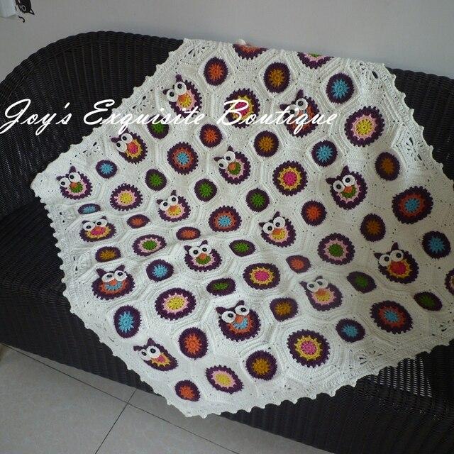 Nueva Crochet Búho Vivid Encantador manta Mantas de Bebé 100 ...