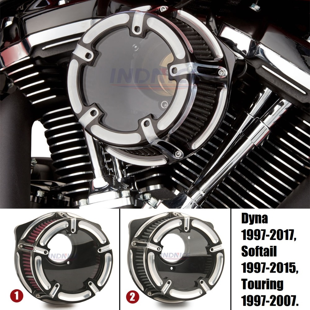CNC Air Cleaner Intake Filter for Harley Softail Touring Fat Bob Dyna Softail