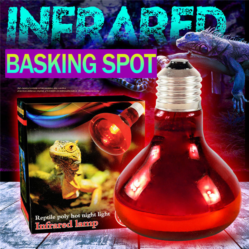 E27 Pet Heating Basking Lamp 40W 60W 100W Spotlight Bulb Lamp Heat Light For Reptile Pet AC220V Red Glass карабин v i pet монтажный 60 6мм 5шт