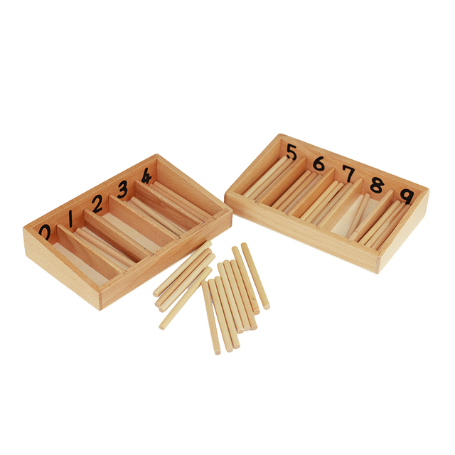 Montessori Spindle Boxes for Counting Practice