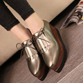 2016 la última pop europeo pendiente con zapatos de plataforma con suela gruesa de la simple y elegante mujer ocio zapatos ocasionales cómodos