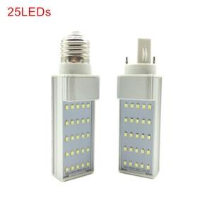 Высокая мощность 7 Вт 9 Вт 11 Вт 13 Вт 15 Вт 18 Вт G24/E27 светодиодная лампа для кукурузы SMD 2835 прожектор 180 градусов AC85-265V лампа с горизонтальной вилкой