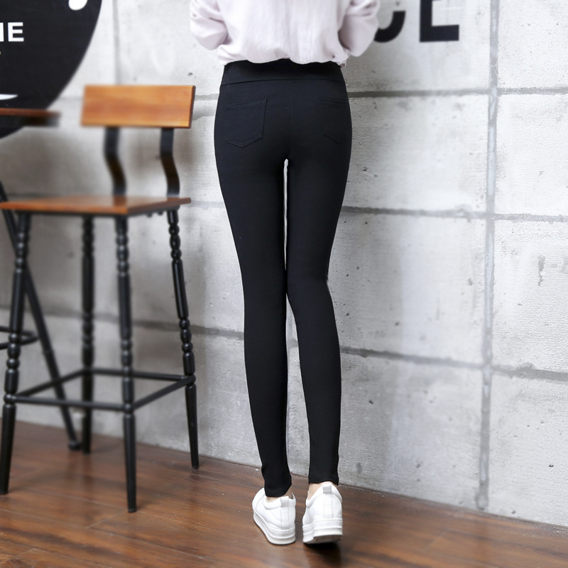 2d772c327011 [Mega Sale] lady casual ankle length leggings small size XS S skinny stripe  leggings girl autumn spring slim fitted pencil 9 pants | www.93108fund.org