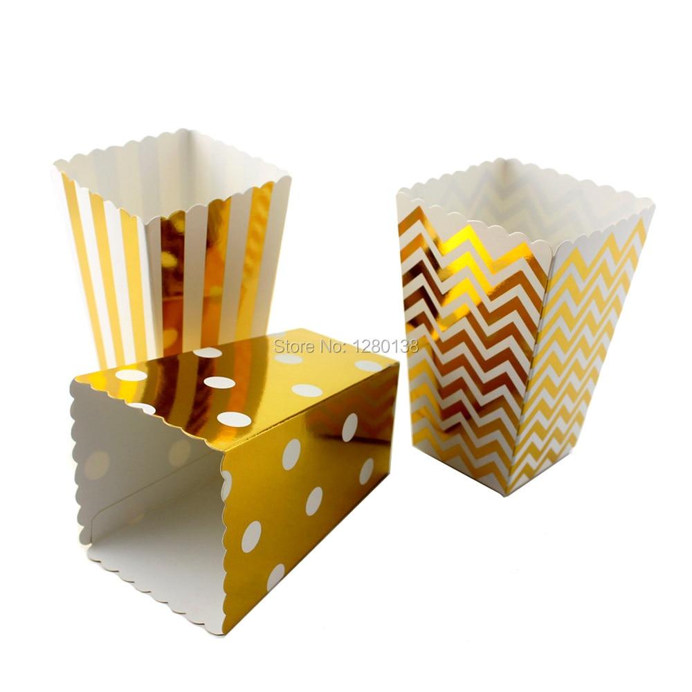 paper popcorn boxes more color chevron striped dot 11575cm snack movie theater