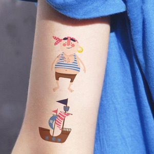 Image 2 - 10 枚/セットかわいい子供海賊タトゥー海賊ステッカー漫画パーティー Suppies 装飾キッズパーティーの好意
