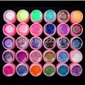 Hot DIY white pot New 30 Colors Glitter UV Gel Builder Acrylic Nail Art Polish Kit Set for False Tips