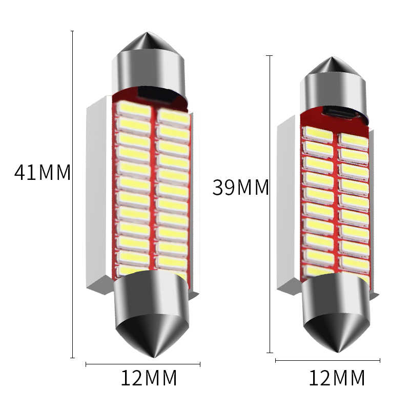 Kualitas Tinggi 31 Mm 36 Mm 39 Mm 42 Mm C5W C10W Super Bright 4014 SMD LED Mobil Memperhiasi Lampu CANbus Kesalahan Gratis Interior Doom Lampu Bohlam