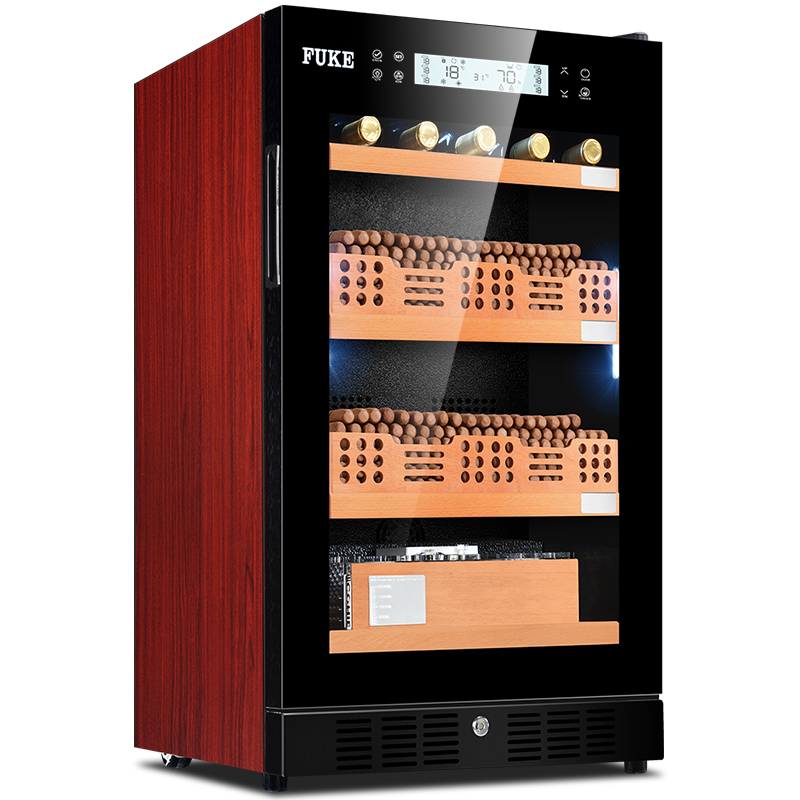 Us 1710 0 E Cigar Cabinet Humidor Led Light Cooler Wine Fk 28cw2 In Accessories From Home