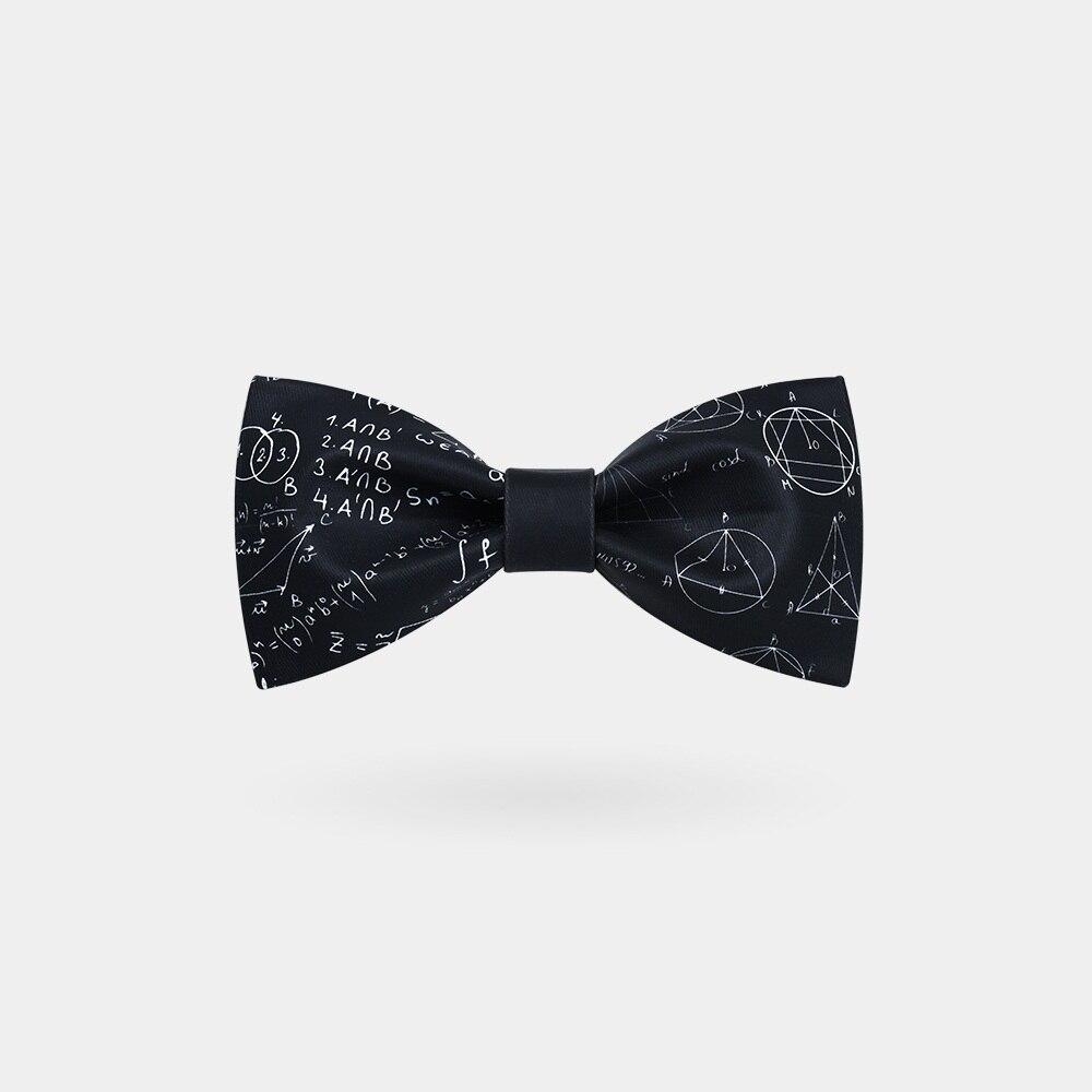 Novelty Gift Math Formula Black Men Party Wedding Neck Tie Bowtie