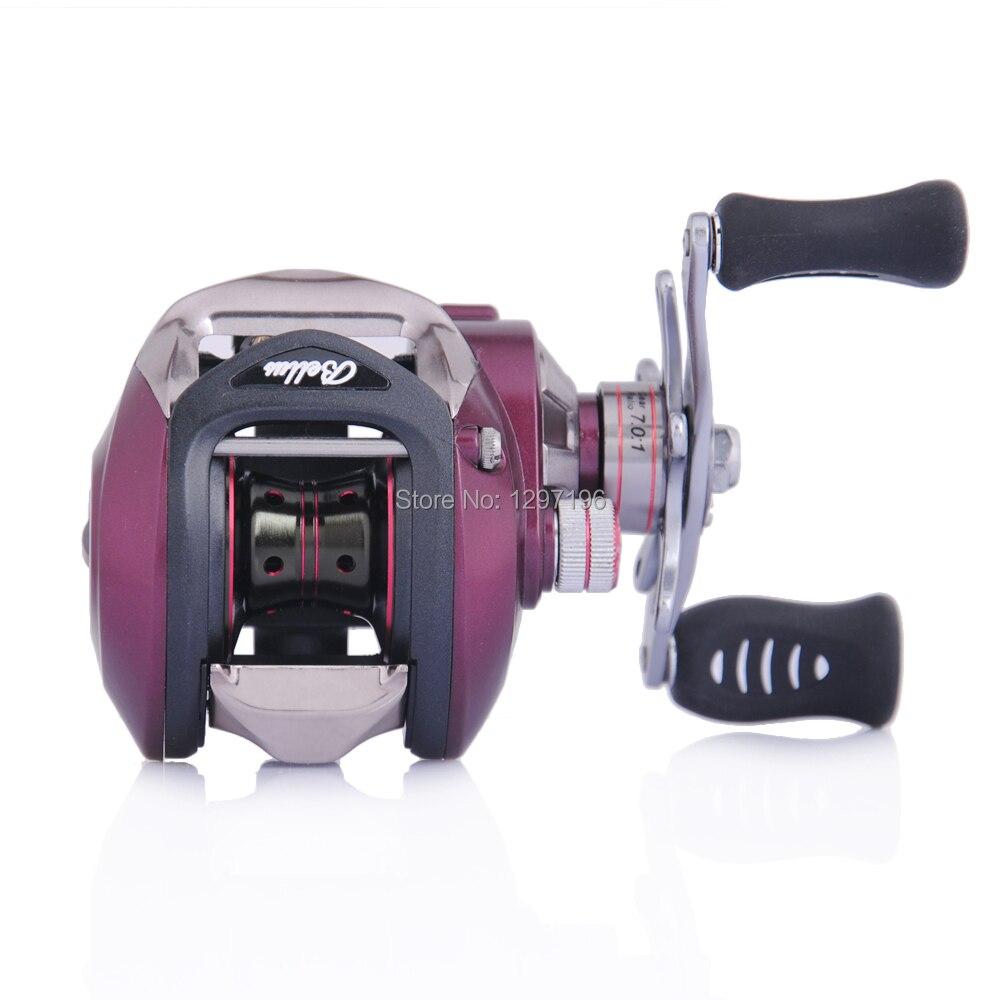 ФОТО Trulinoya Brand baitcasting reel BELLUS 8+1 bearings 240g(8.5oz) carp fishing gear Left Hand bait casting fishing reel