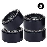 4PCS Aluminum Alloy 1.9 inch Wheels Rims 12mm Hex for 1/10 RC Crawler Axial SCX10 II 90046 Traxxas TRX4 D90