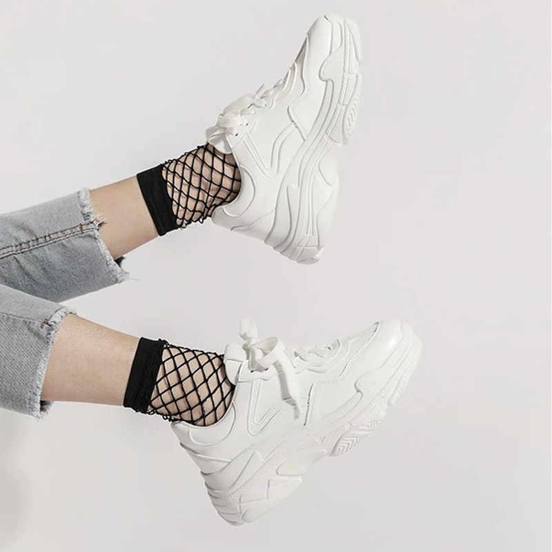 Tất Cả Yixie 2019 Mùa Hè Mới Lưới Màu Trắng Dành Cho Nữ Thời Trang Đáy Dày Nữ Nền Tảng Giày Giày Zapatos De Mujer
