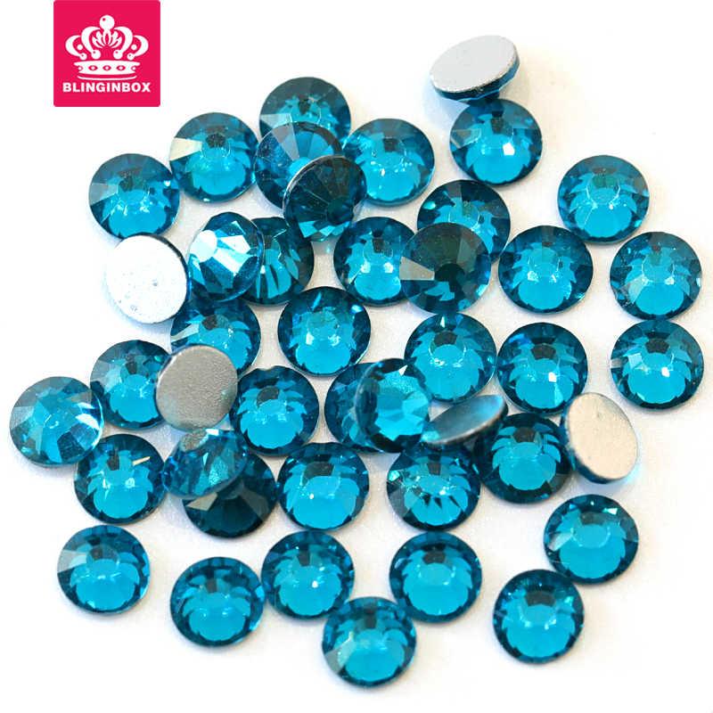 2028 SS3-SS30 ピーコックブルー非ホットフィックス Rhinstone うちラインストーンガラスクリスタルや石ネイルアート用 F0006