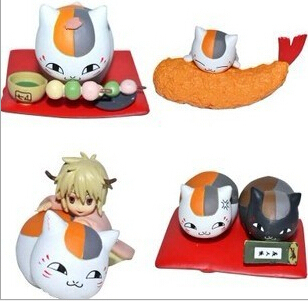 4pcs/set Cute Natsume Yuujinchou Nyanko Sensei Action Figures PVC brinquedos Collection Figures toys for christmas gift