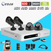 8 Channel Cctv Security Camera With DVR Recording System 4pcs 600TVL Camera Kit 8ch AHD 960h