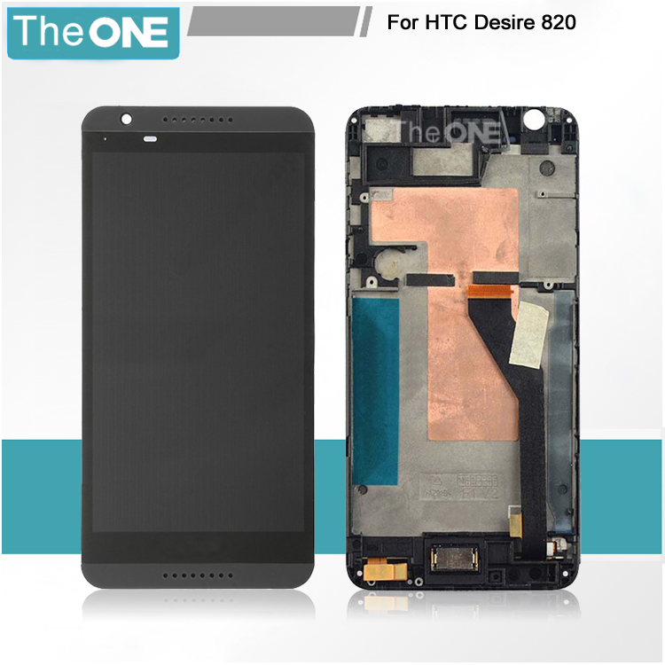 black white For HTC Desire 820 D820 LCD Display Screen with Touch Screen Digitizer Assembly with frame Free Shipping for htc desire 816g lcd screen display with touch screen digitizer assembly by free shipping 100