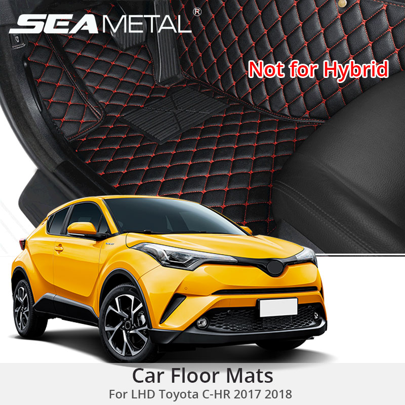For LHD Toyota C HR CHR 2019 2018 2017 Car Custom Mat Artificial Leather Car Floor