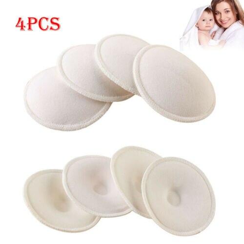 4pcs Fashion Baby Feeding Breast Pad Washable Nursing Pad Soft Absorbent Reusable Nursing Anti-overflow Maternity Nursing Pad