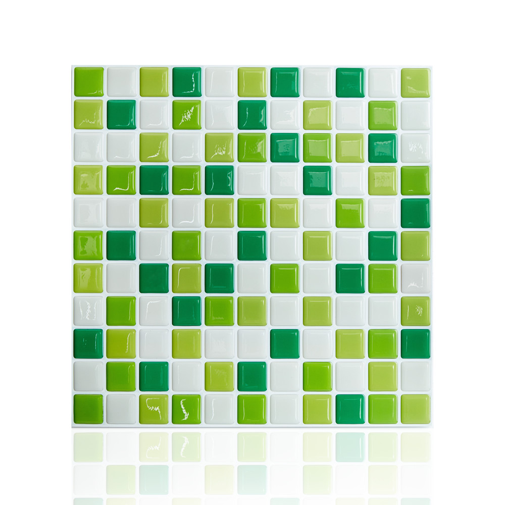 Metrotegels Keuken Kopen : Peel and Stick Mosaic Tiles Green