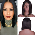 Lace Front Bob Wigs Straight Indian Virgin Hair Human Hair Lace Front Wigs Black Women Full Lace Human Hair Wigs With Baby Hair