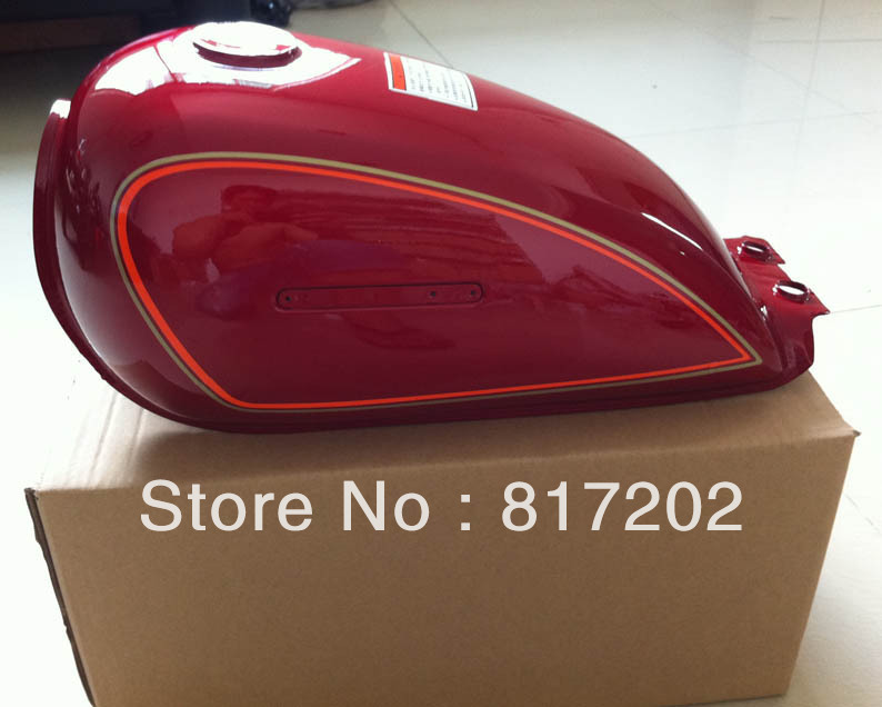 цена на NEW OEM QUALITY GN250 GN 250 FUEL ( PETROL GAS ) TANK, RED with LETTER Emblem