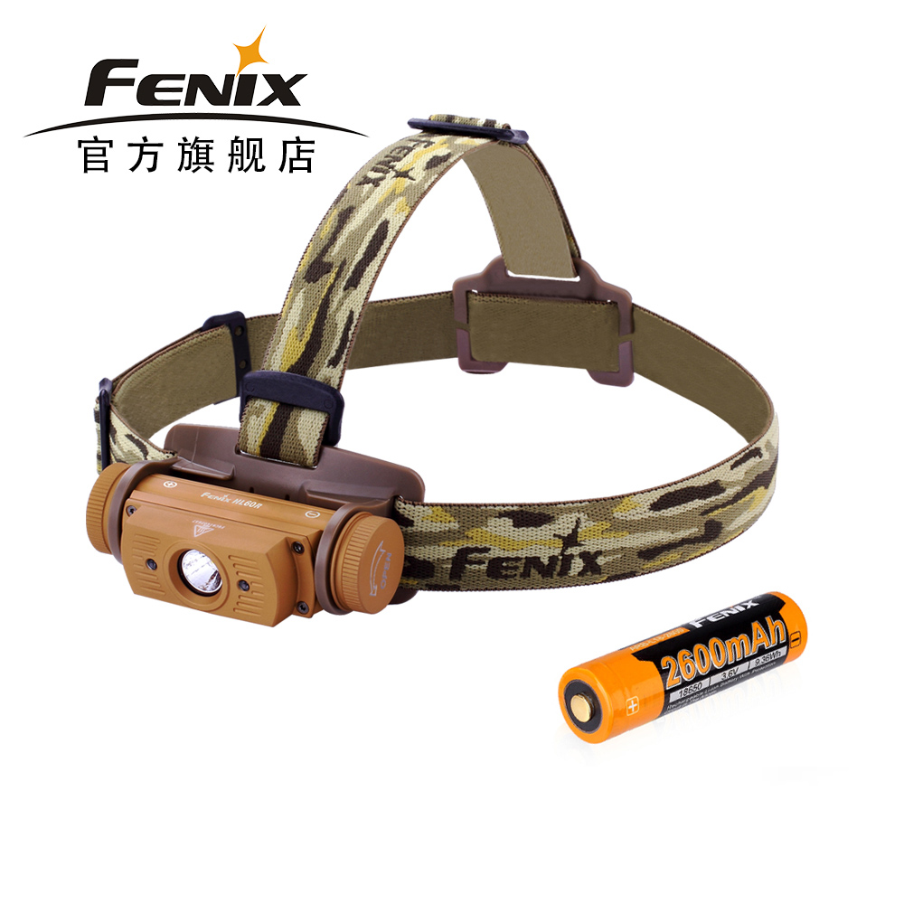2018 New Arrival Fenix HL60R Dual Light Source Rechargeable Micro USB T6 LED Headlamp with 18650 Battery