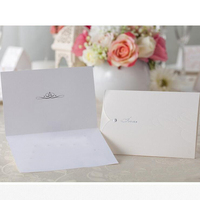 50pcs Pack White Envelope Shape Wedding Invitation Cards Setting Drill Invitation Cards Birthday Party Supplies Favors