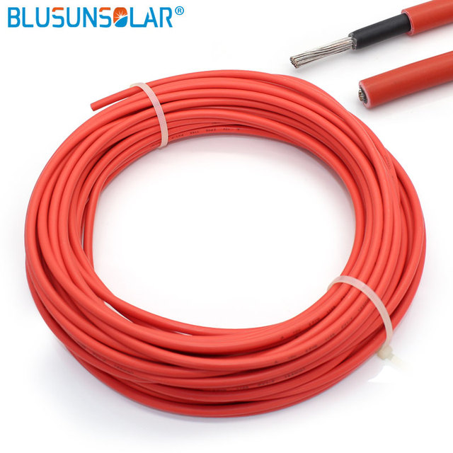 Hot sale 100mroll 40mm2 solar pv cable awg 6 gauge red and black 100mroll 40mm2 solar pv cable awg 6 gauge red greentooth Images