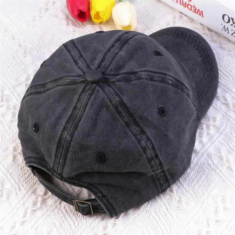 Fashion Denim Baseball Cap Retro Baseball Cap Peaked Cap For Women Men (Black)