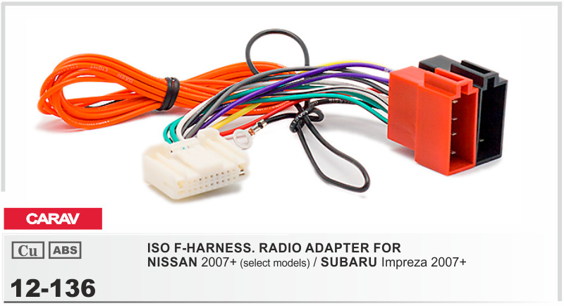 compare prices on nissan wire harness online shopping buy low carav 12 136 iso f harness radio adapter for nissan 2007 impreza
