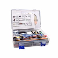 2018 Hot sale UNO Project The Most Complete Starter Kit for Arduino UNO R3 with Tutorial /1602 LCD /UNO R3/Resistor