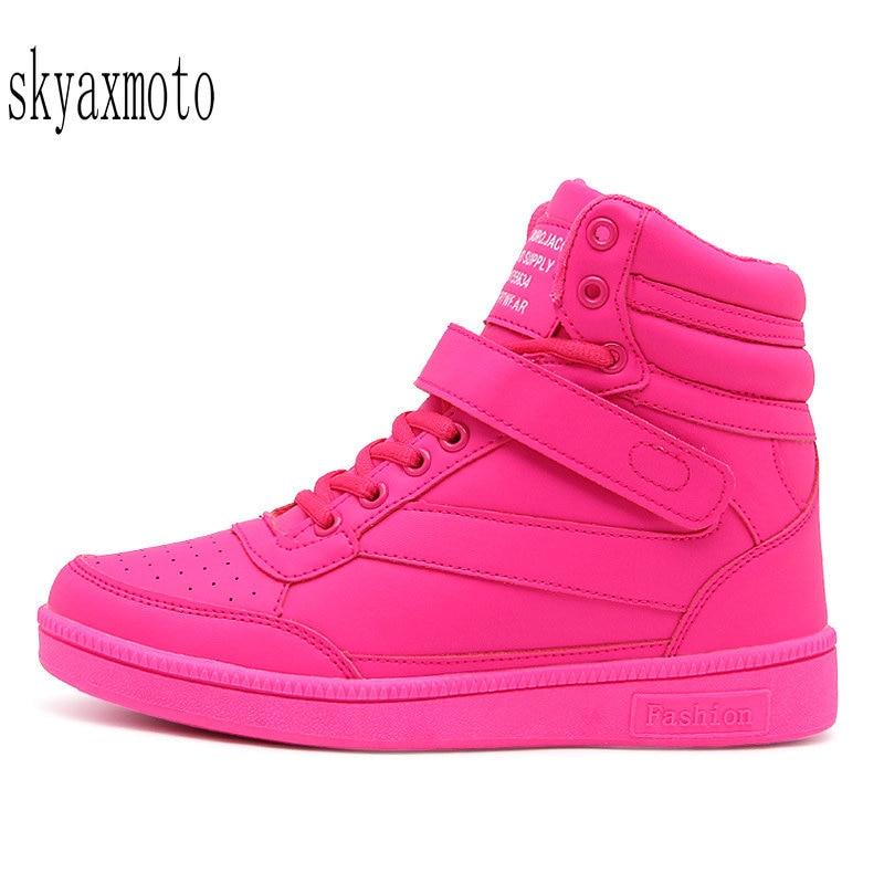 Winter Shoes Women Sneakers Height Increasing Krasovki Women Sport Shoes Woman Zapatillas Deportivas Mujer Running Pink