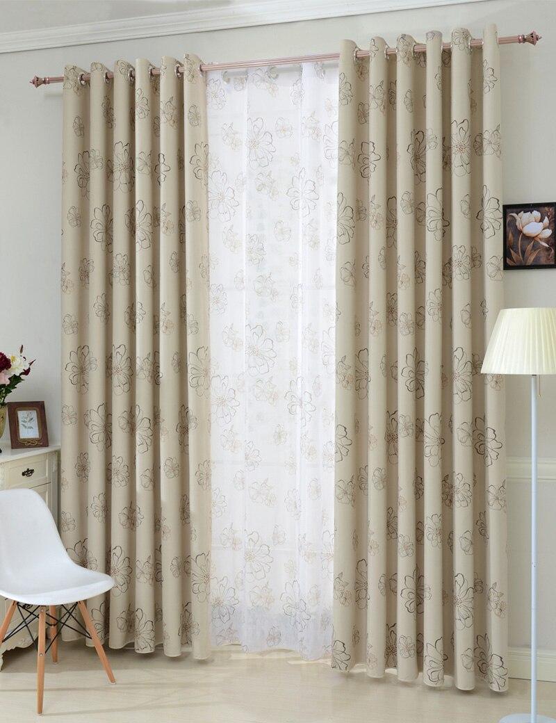 Topfinel Jalousien Luxuriöse Moderne Blume Fenster Blackout Vorhänge ...