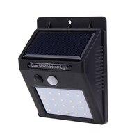 20PCS 2835 LED Solar Power PIR Infrared Motion Sensor Wall Light Outdoor Waterproof Garden Security
