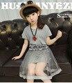 Девушки летом кружевном платье девочка одежда малышей сетки принцесса платья детские девочки-подростка 10-13 лет детская одежда свадебные платья menina