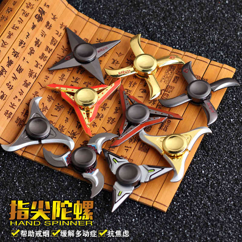 Shuriken genji ninja darts Fidget Spinner Toy metal EDC Fidgets Hand Spinner Autism ADHD Increase Focus gift COOL new hot metal spinner tri spinner fidget finger spinner for autism adhd edc desk spinner beyblade relax toys christmas gift