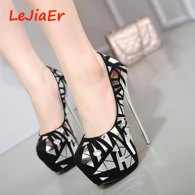 sexy high heels shoes pumps women party shoes for women platform heels rhinestone wedding shoes stiletto heels silver pumps D791