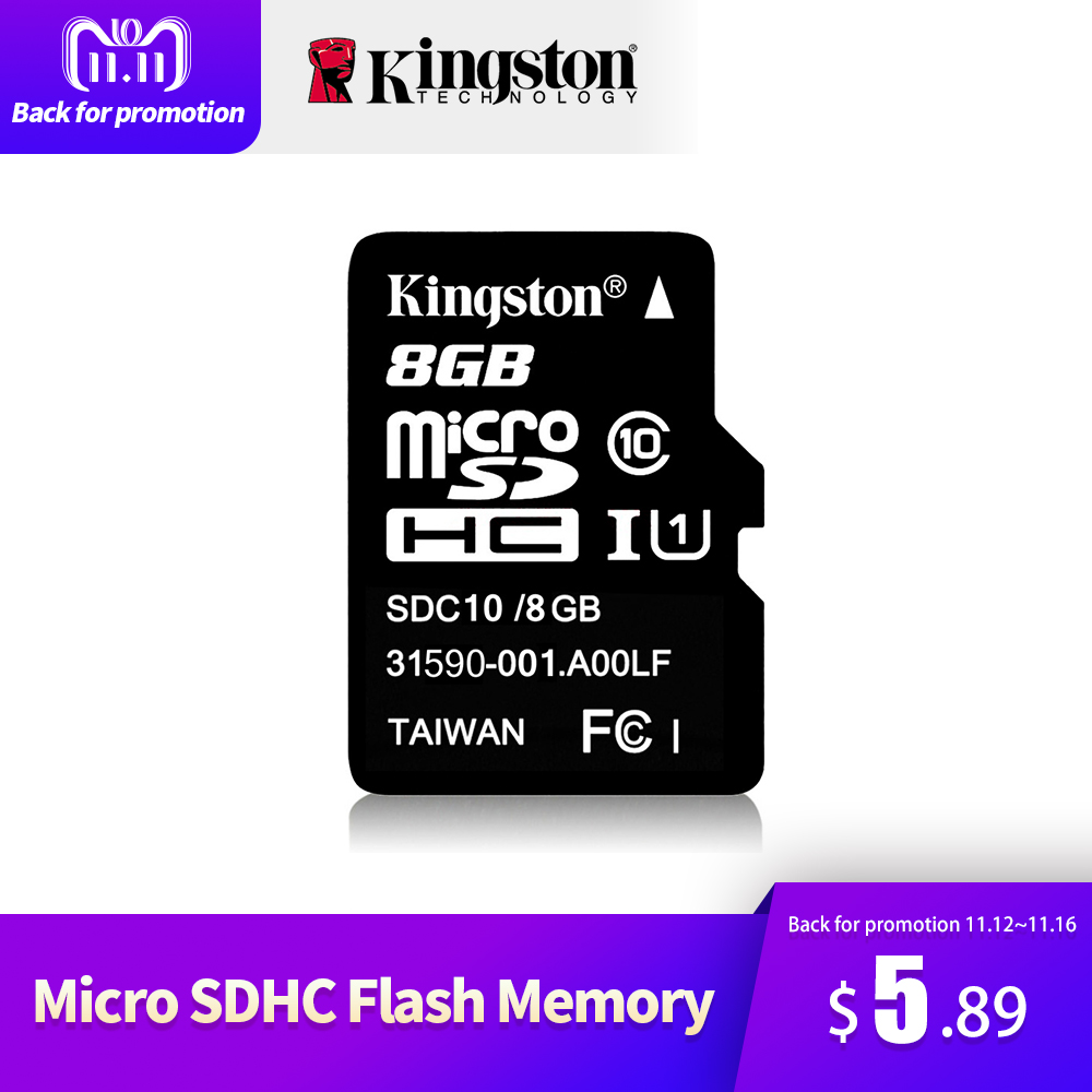 цена Kingston Class 10 Micro SD Card 32GB 64GB 8GB 16GB Mini SD Memory Card SDHC SDXC Micro SD TF Card For Camera Android SmartPhone
